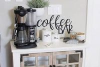 Great Coffee Cabinet Organization Ideas 48