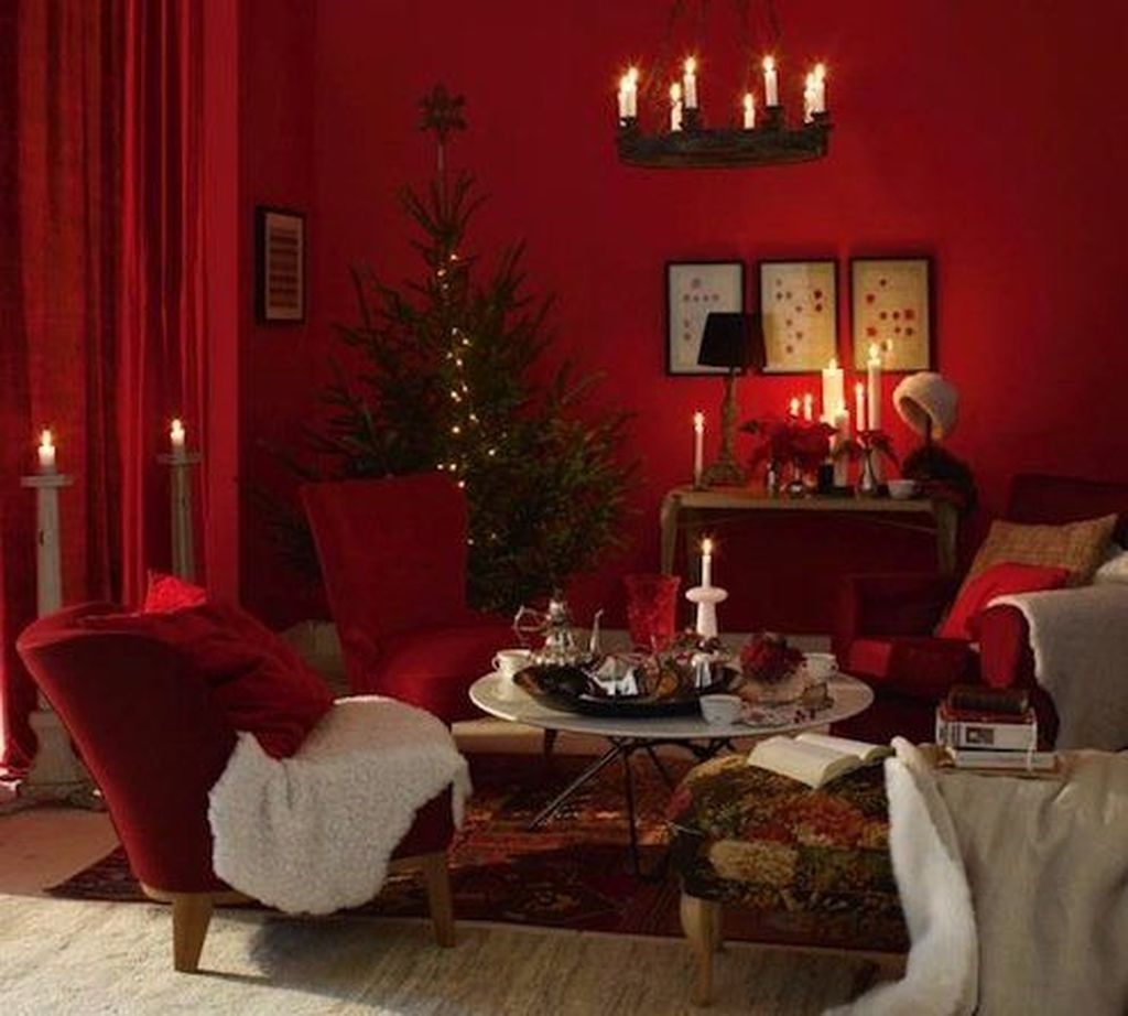 Sweet Living Room Decor Ideas With Red Color For Valentines Day 01 Homyhomee