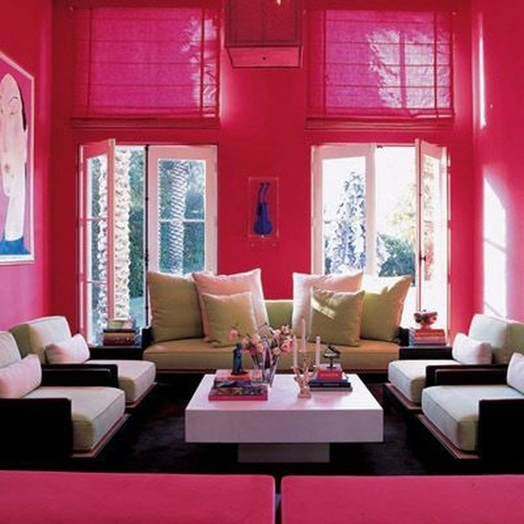 Sweet Living Room Decor Ideas With Red Color For ...