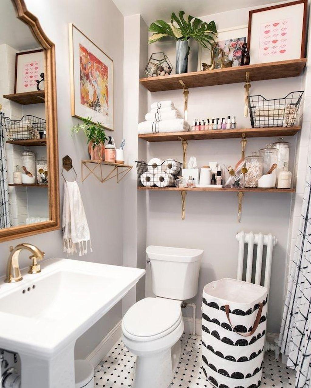Fascinating Simple Apartment Bathroom Decor Ideas 02 Homyhomee