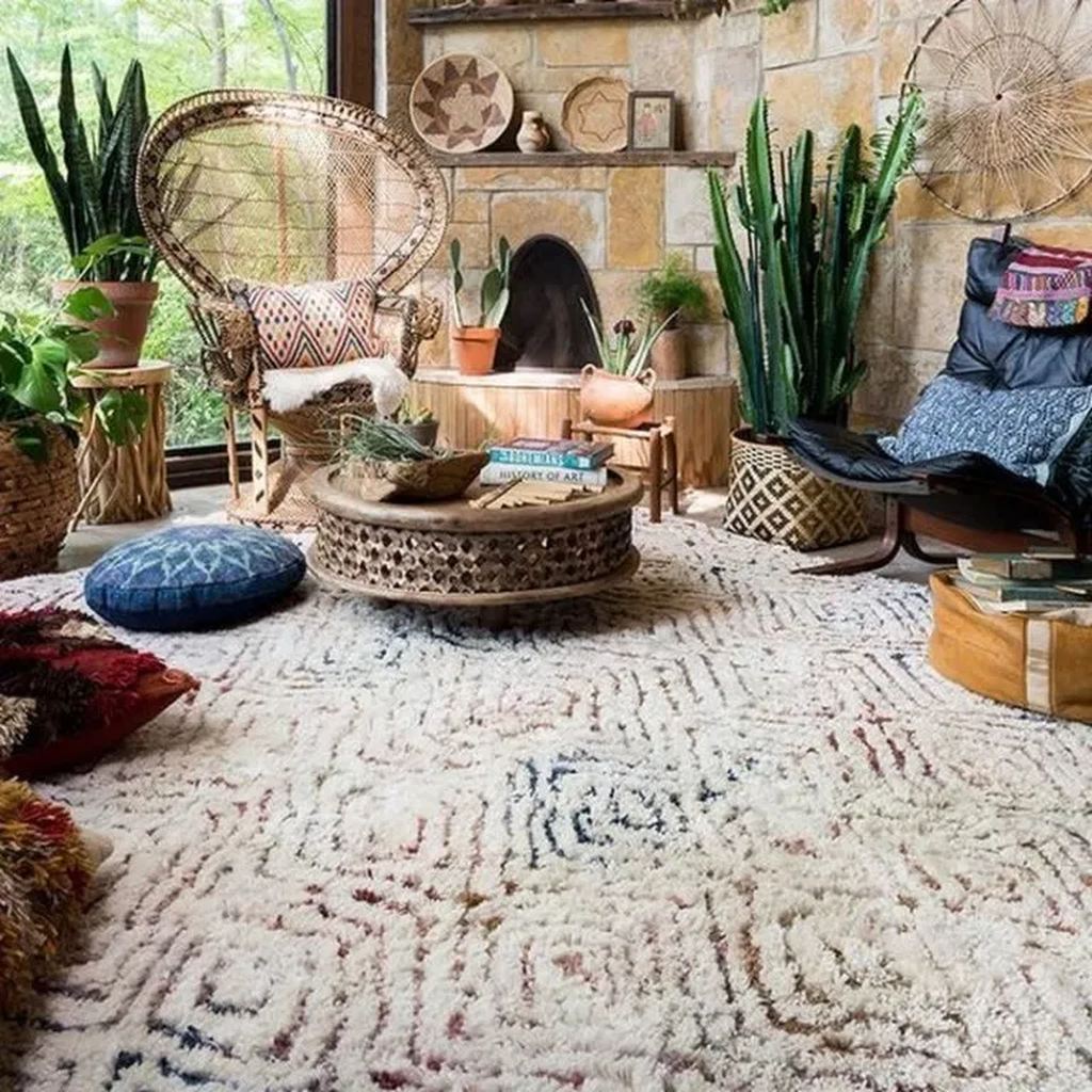 The Best Rustic Bohemian Living Room Decor Ideas 08