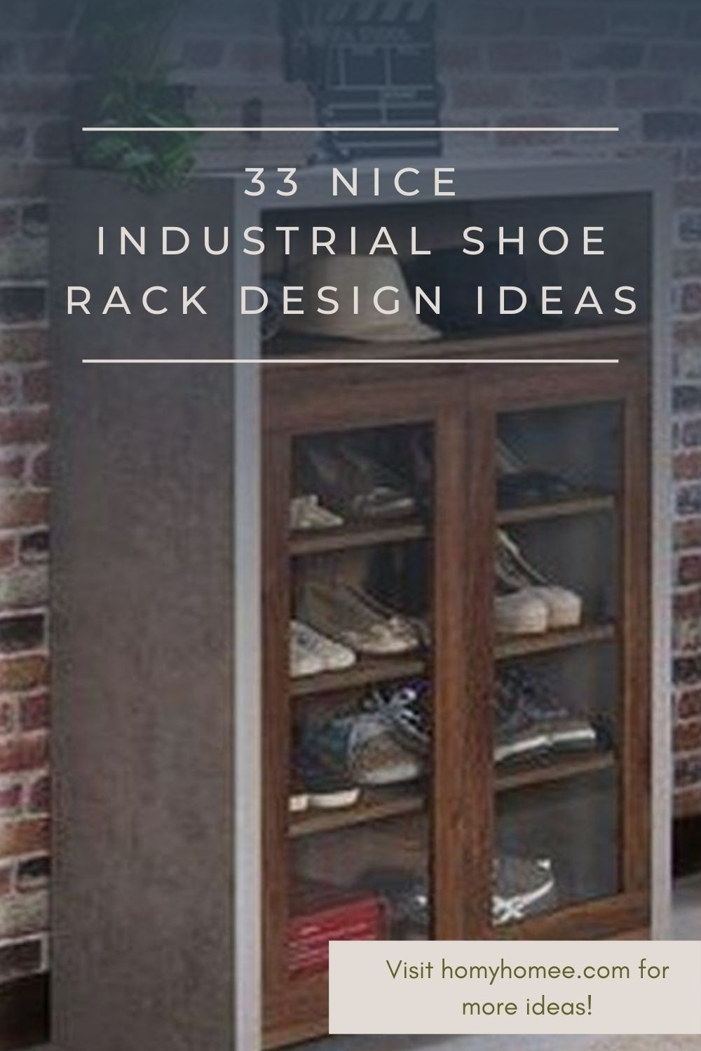 33 Nice Industrial Shoe Rack Design Ideas