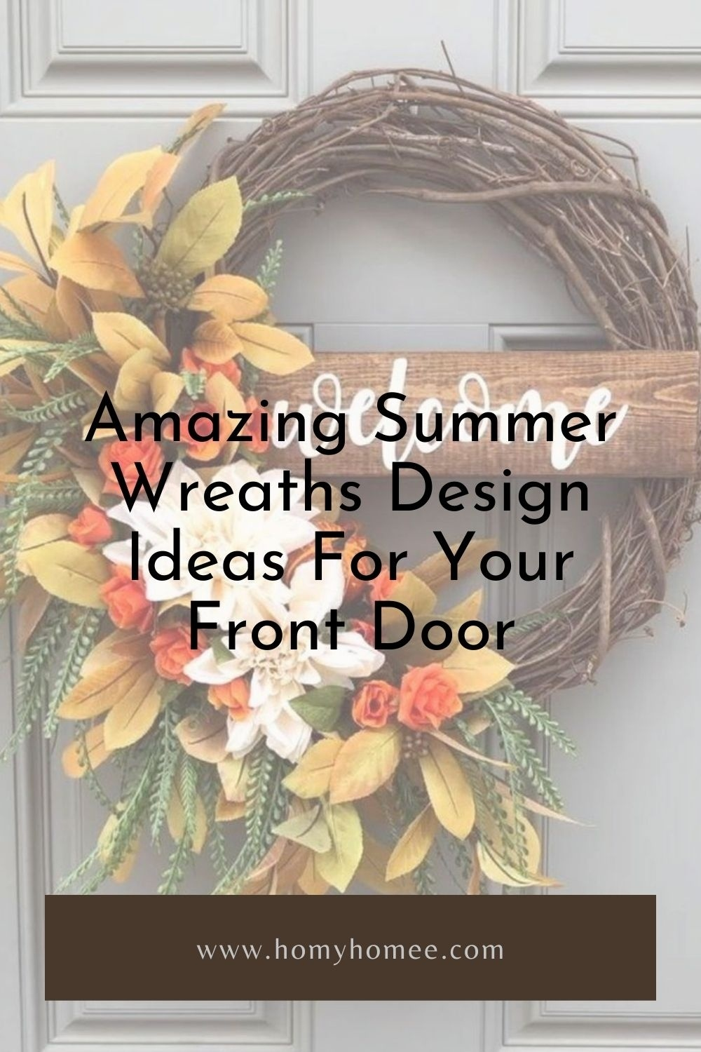 Amazing Summer Wreaths Design Ideas For Your Front Door