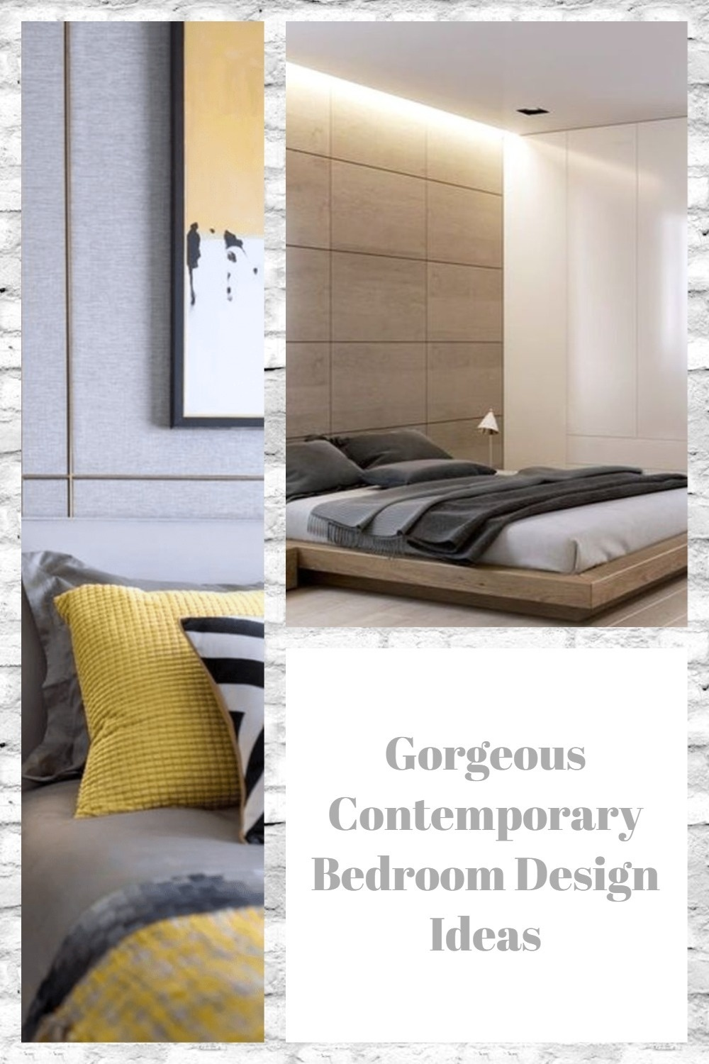 Gorgeous Contemporary Bedroom Design Ideas