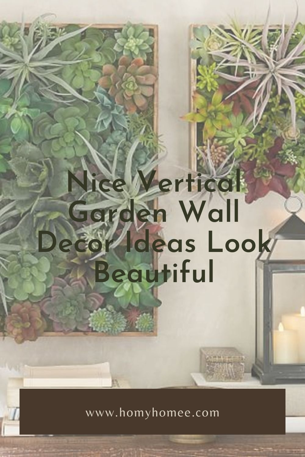 Nice Vertical Garden Wall Decor Ideas Look Beautiful