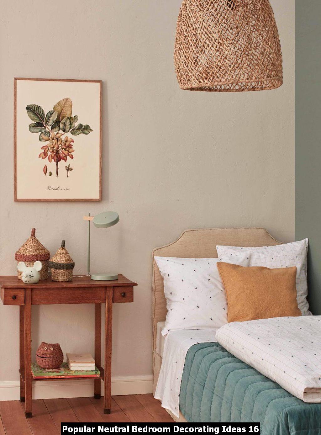 Popular Neutral Bedroom Decorating Ideas 16 Homyhomee