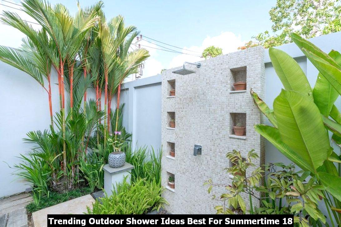 Trending Outdoor Shower Ideas Best For Summertime 18