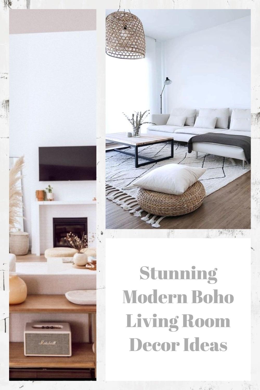 Stunning Modern Boho Living Room Decor Ideas