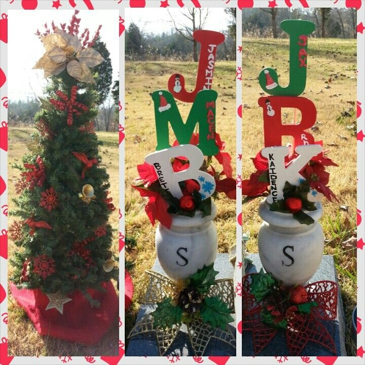 DIY Christmas Grave Decorations