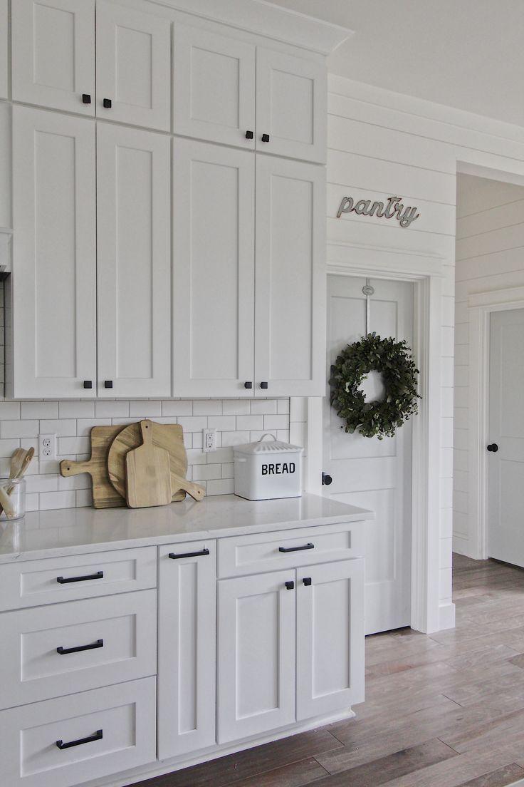 White Kitchen Cabinets With Black Hardware
