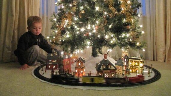 Train Under Christmas Tree