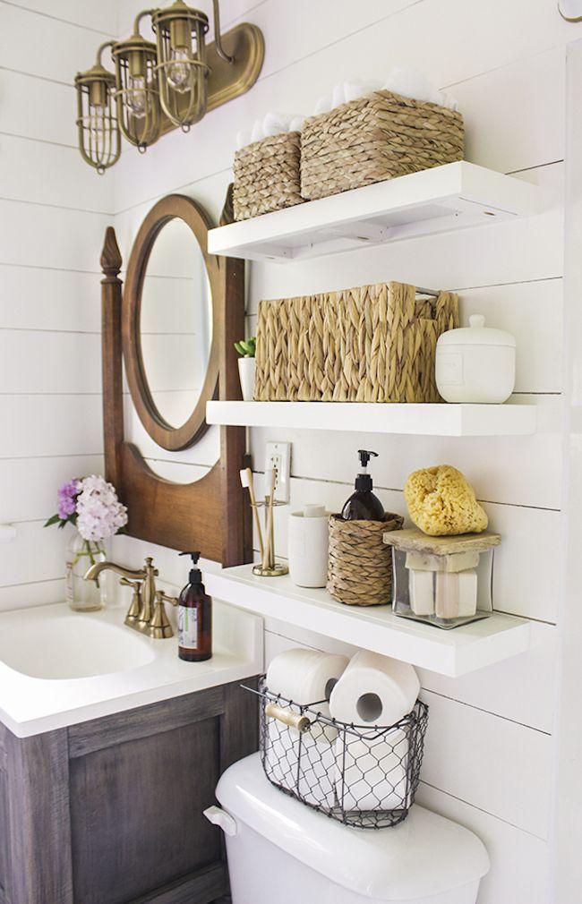 Open Shelving Bathroom