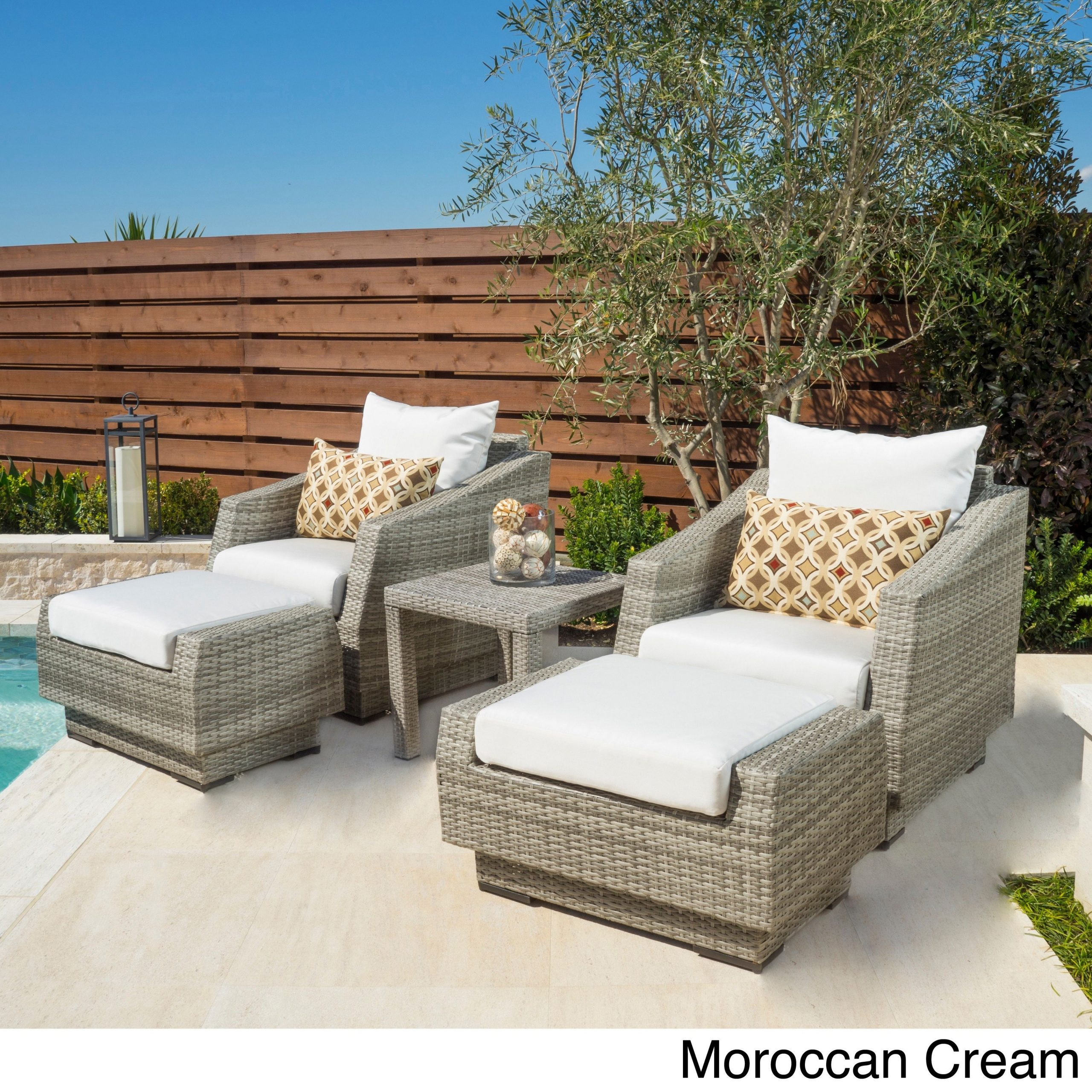 Outdoor Chair And Ottoman