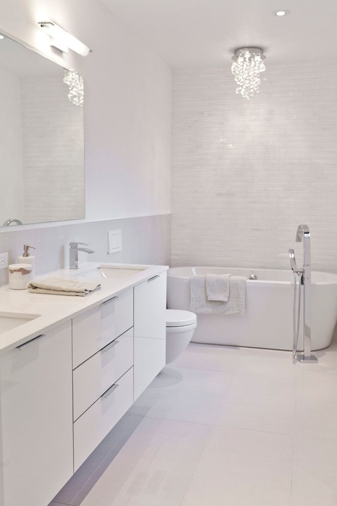 Modern White Bathrooms