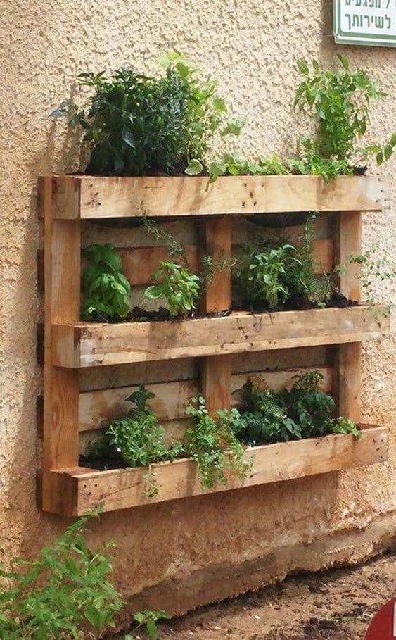Vertical Pallet Garden Ideas