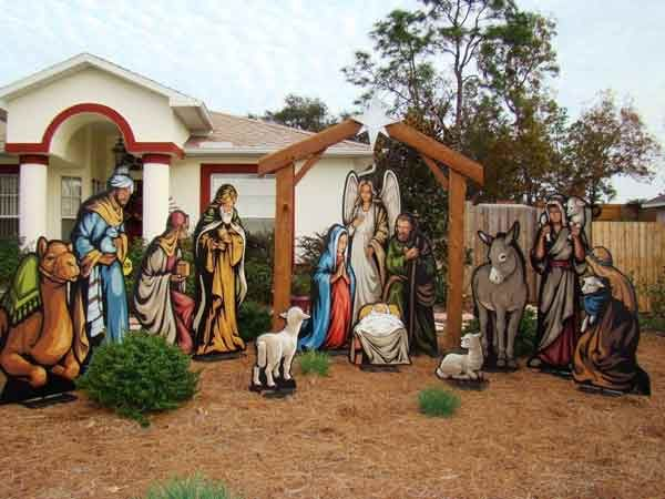 Life Size Lighted Outdoor Nativity Sets