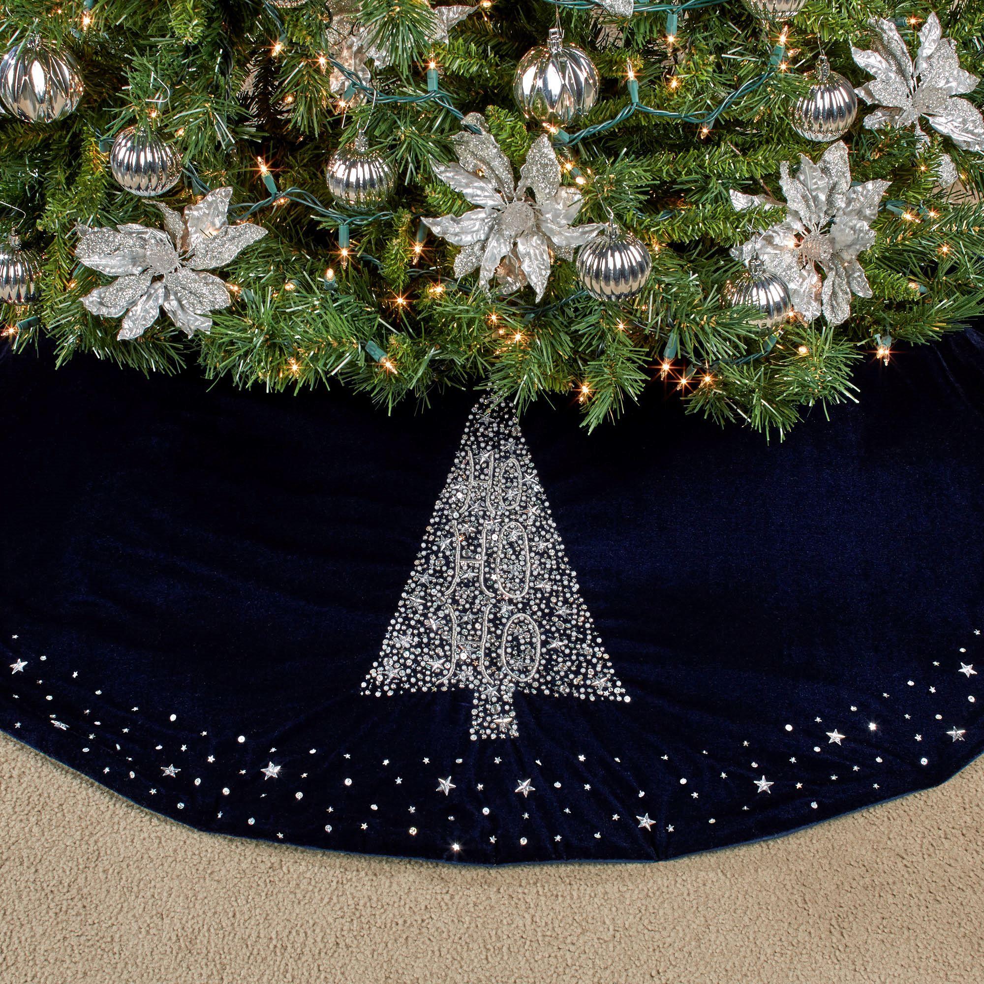 Blue Christmas Tree Skirt