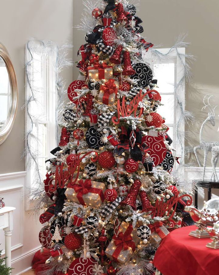 Red And Black Christmas Tree