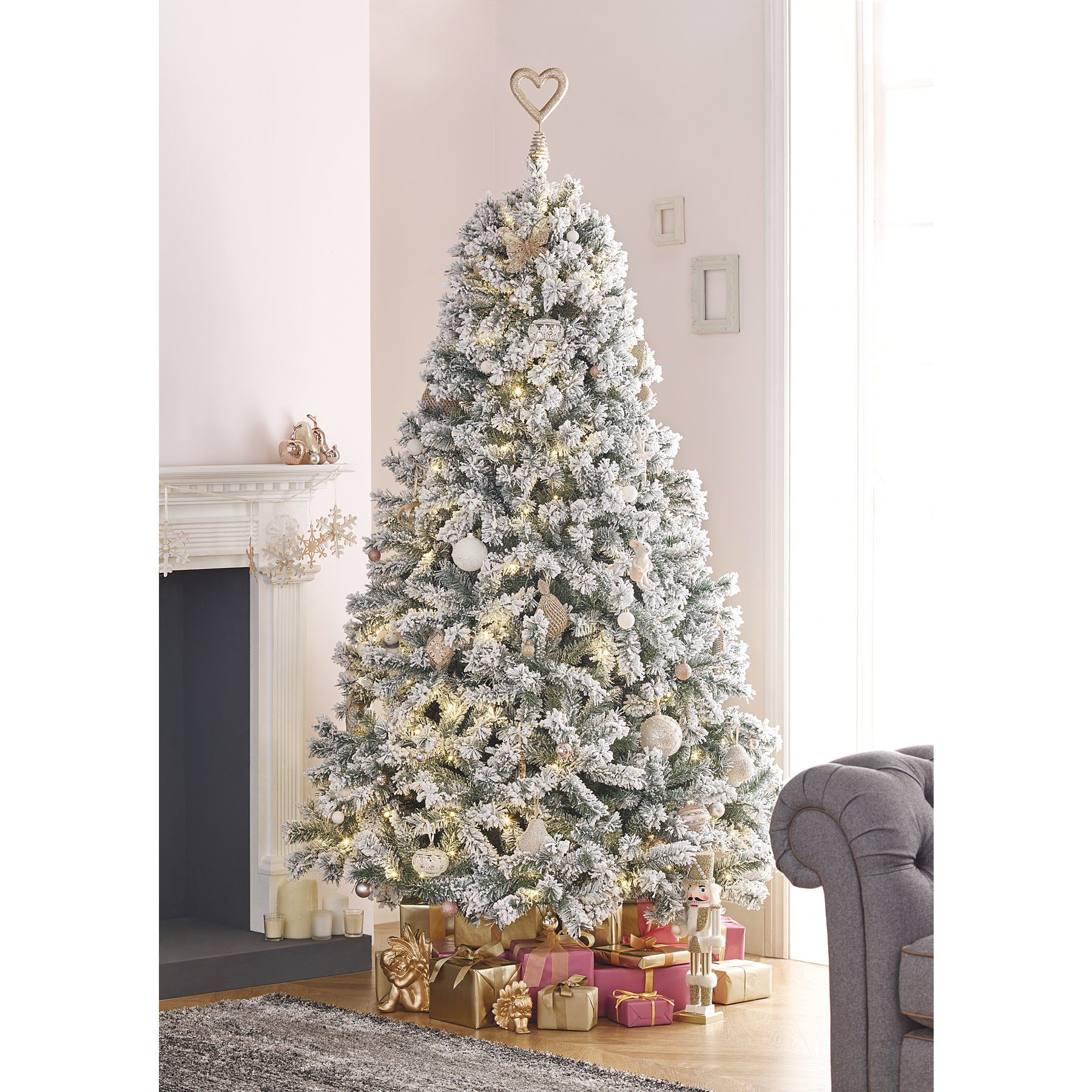 Pre Lit Frosted Christmas Tree