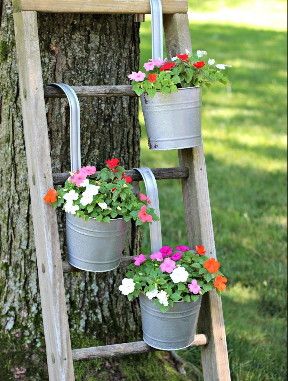 Old Wooden Ladder Garden Ideas