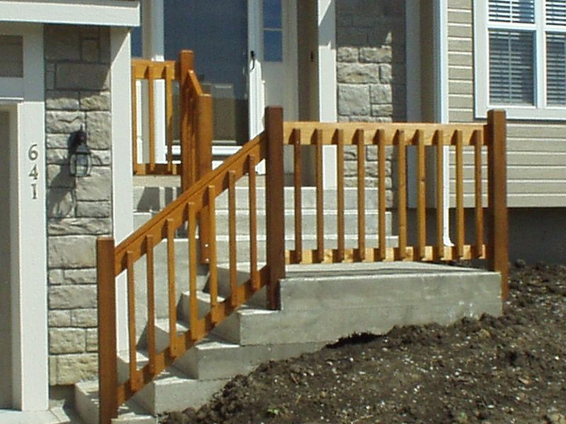 Wooden Handrails For Outdoor Steps