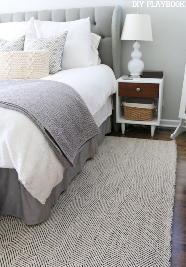 Grey Bedroom Rug