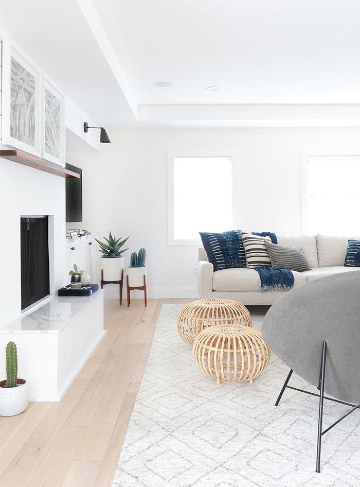 White Walls Living Room