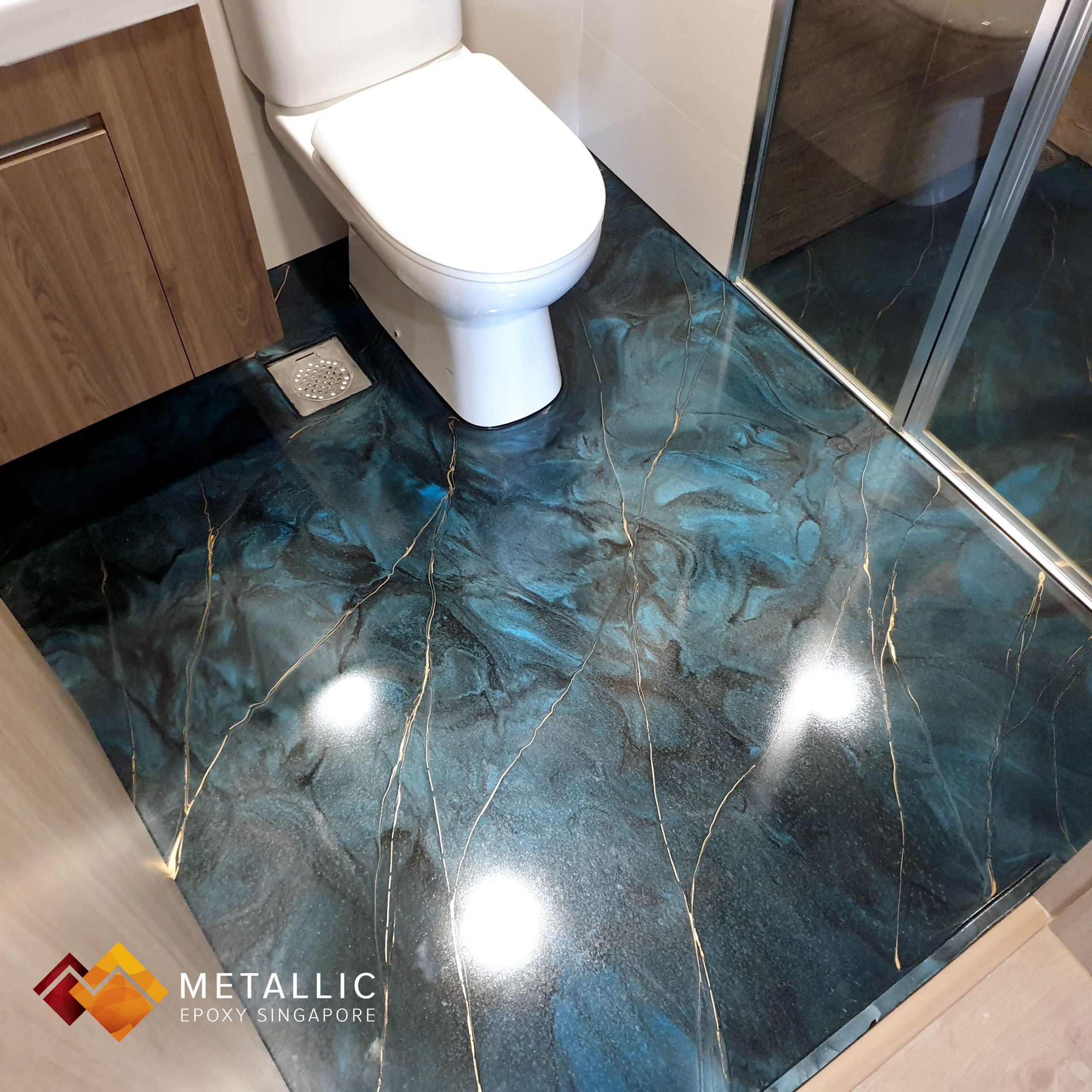 Epoxy Bathroom Floor