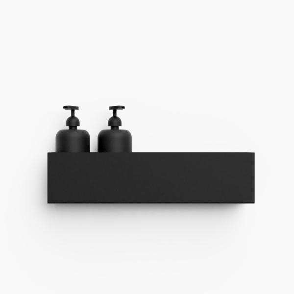 Black Bathroom Shelf