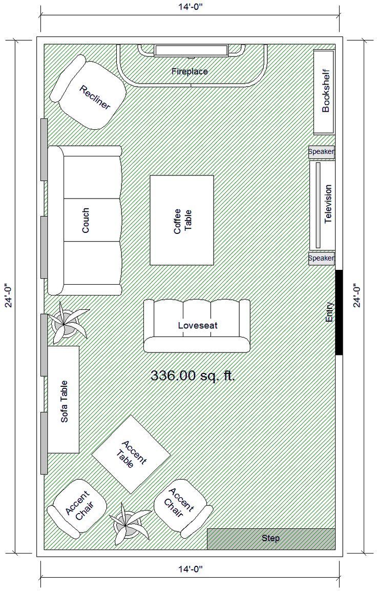 Rectangle Living Room Layout
