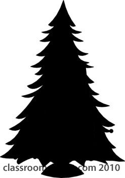 Silhouette Christmas Tree Clipart