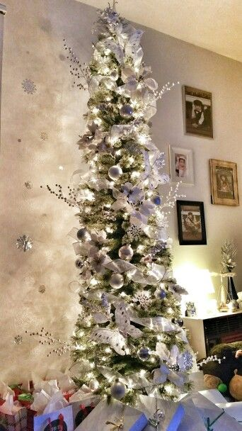 White Pencil Christmas Tree