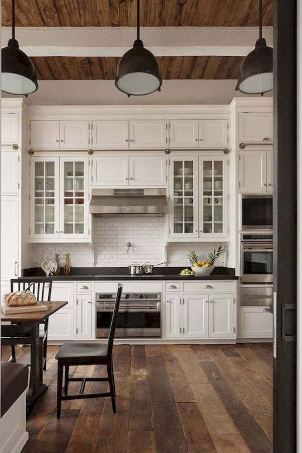Rustic Farmhouse Kitchen Cabinets