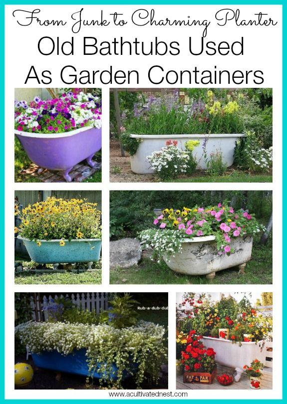 Old Bathtub Garden Ideas