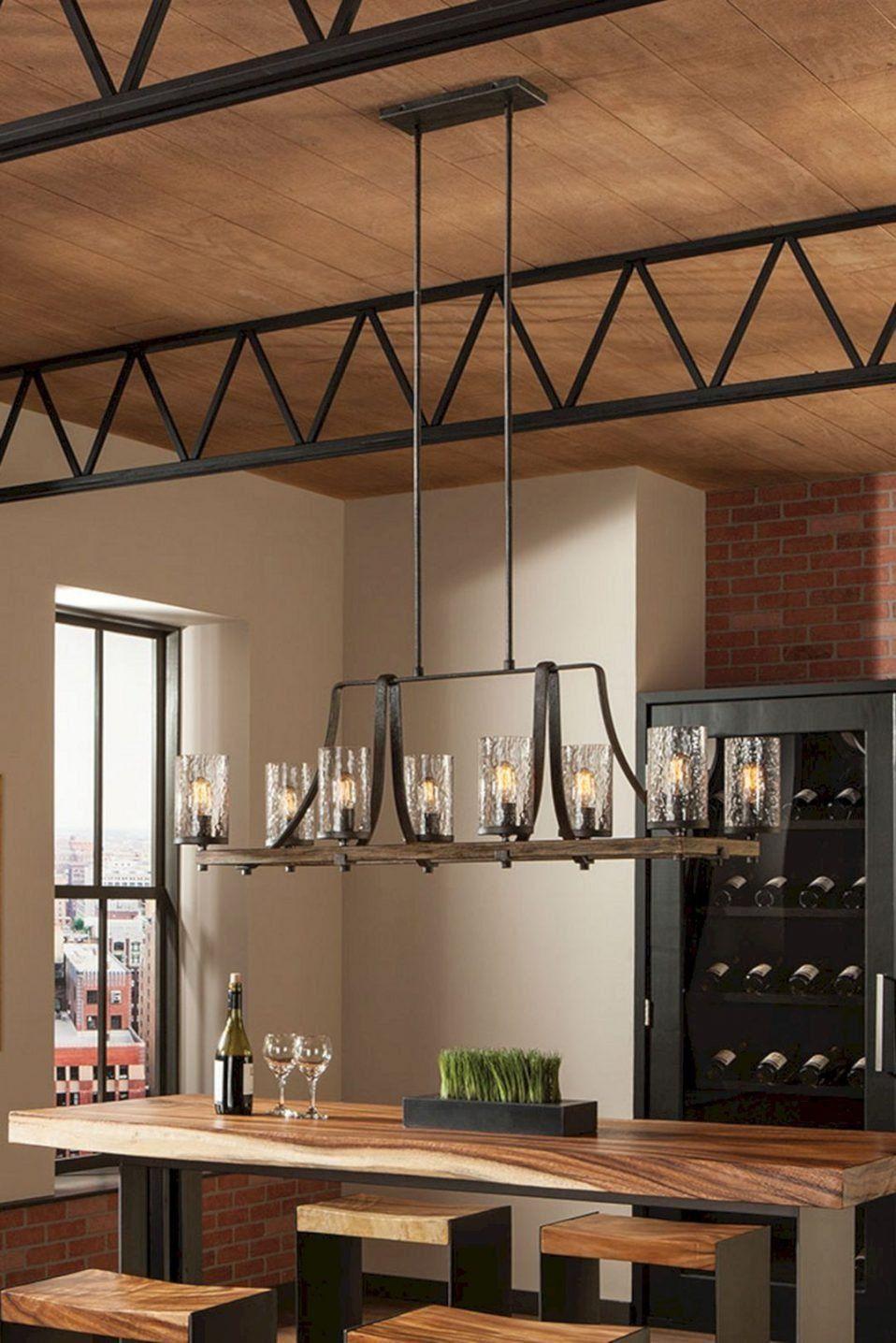 Rustic Dining Room Light Fixture
