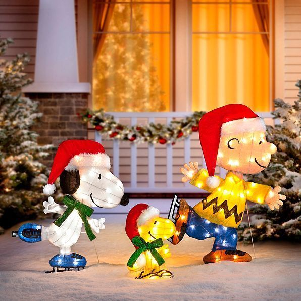 Snoopy Outdoor Christmas Decorations