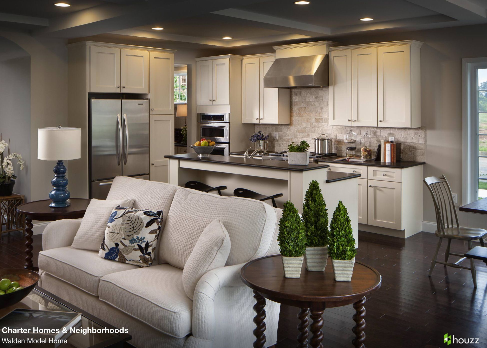 Small House Open Concept Kitchen And Living Room