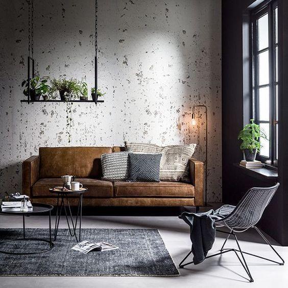 Modern Industrial Living Room