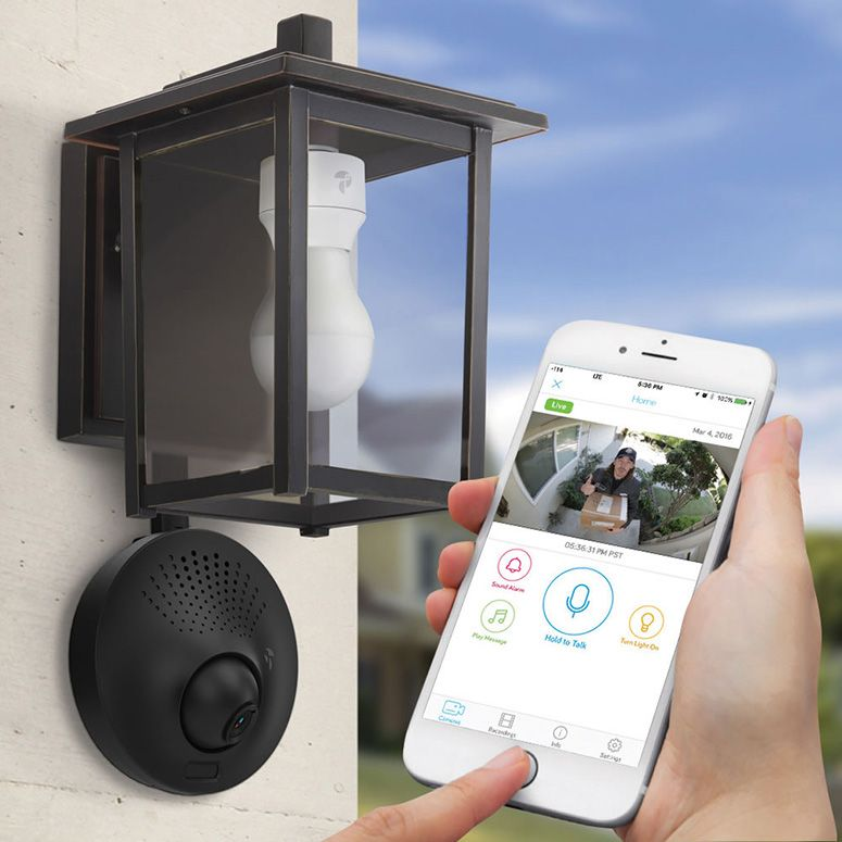 Outdoor Security Light With Camera