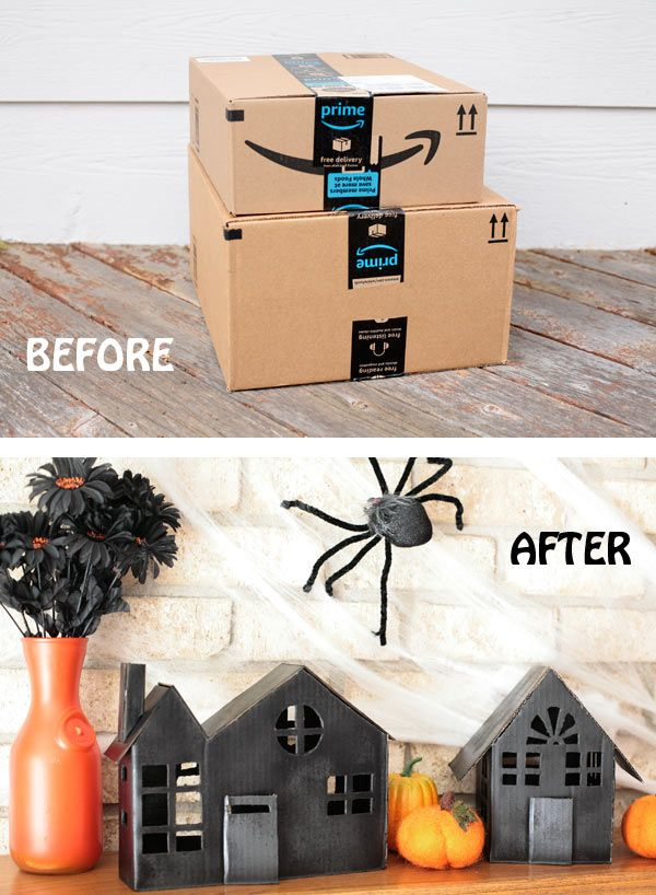 DIY Cardboard Halloween Decorations