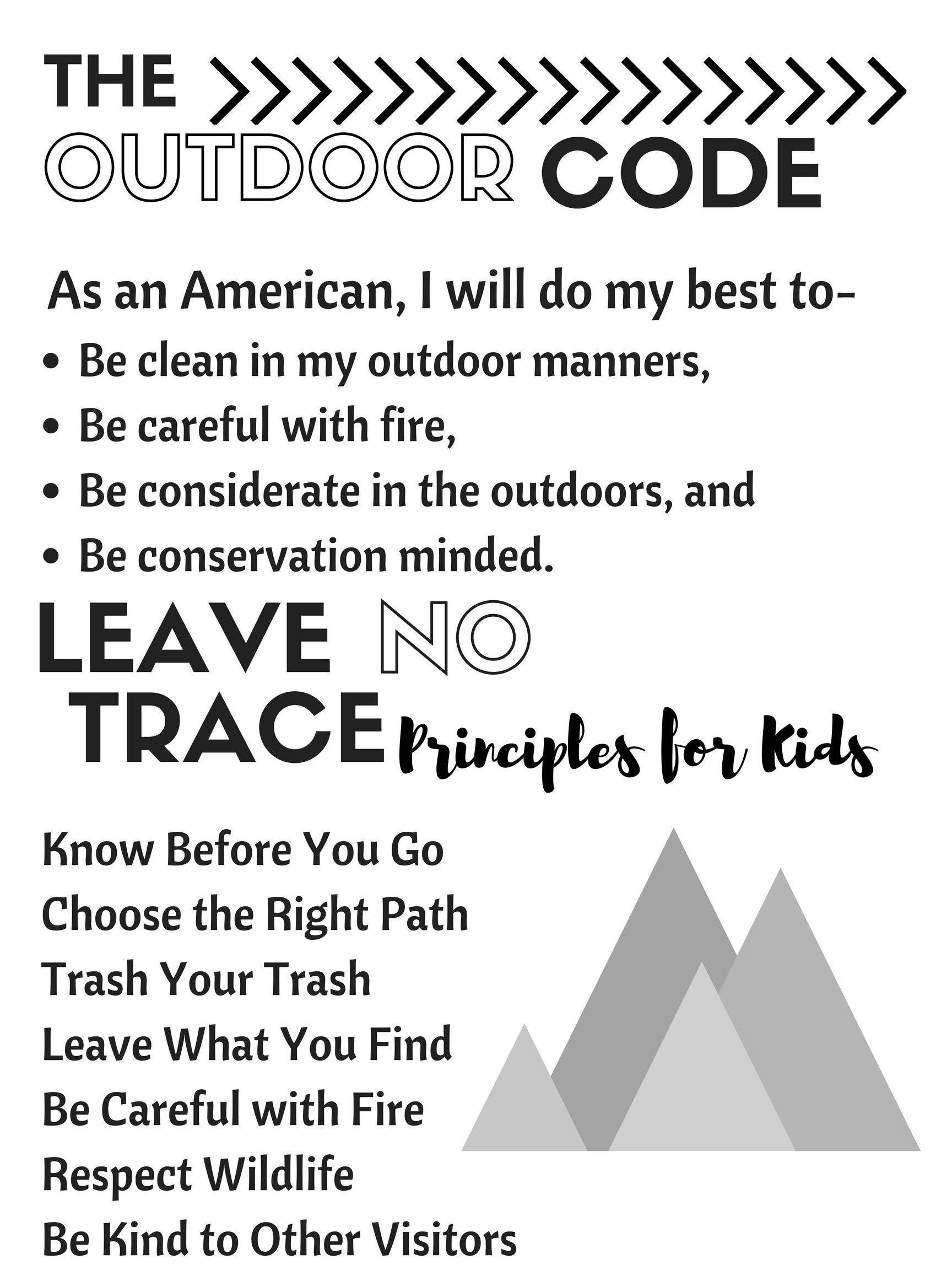Boy Scout Outdoor Code