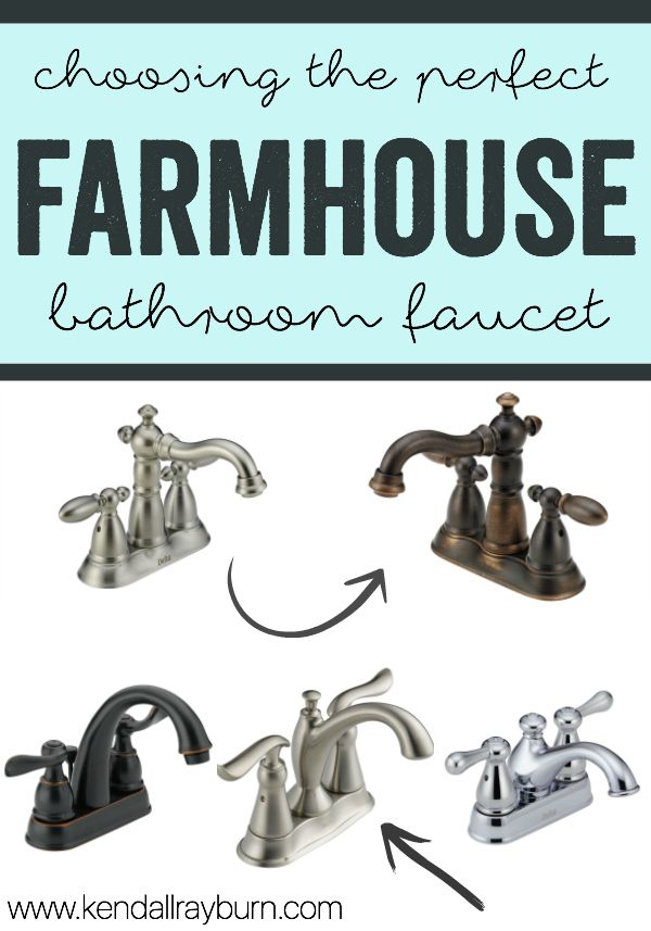 Farmhouse Bathroom Faucet