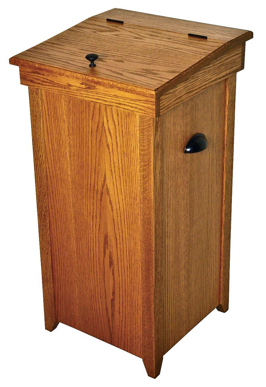 Wooden Kitchen Trash Cans