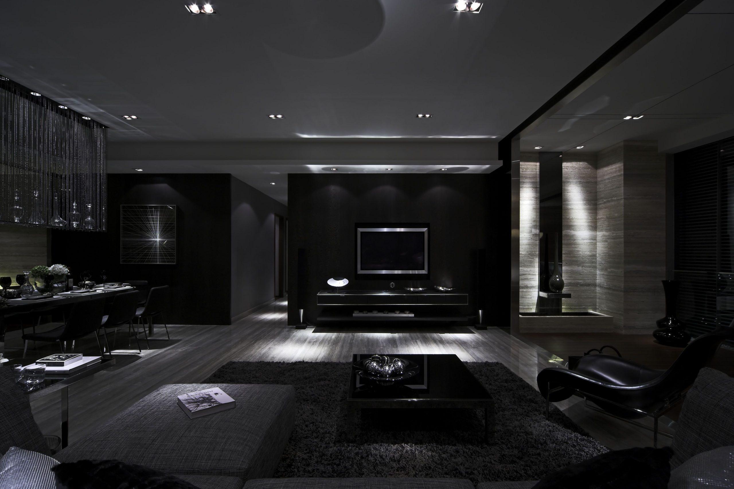 All Black House Interior