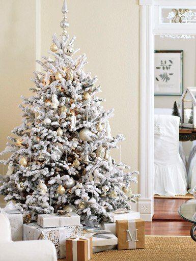 Snow Flocked Christmas Tree