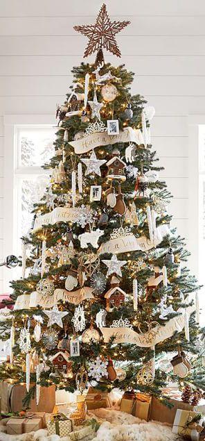Rustic Christmas Tree Decorations