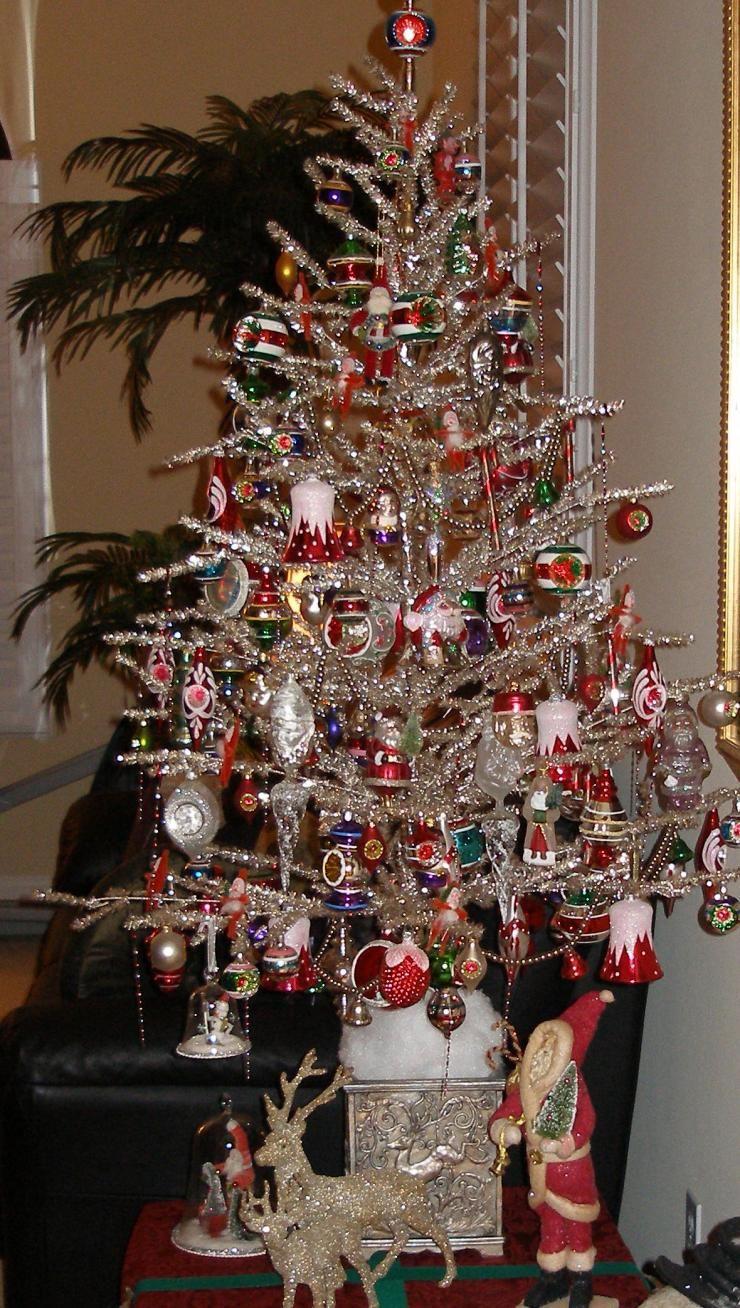 Vintage Silver Christmas Tree