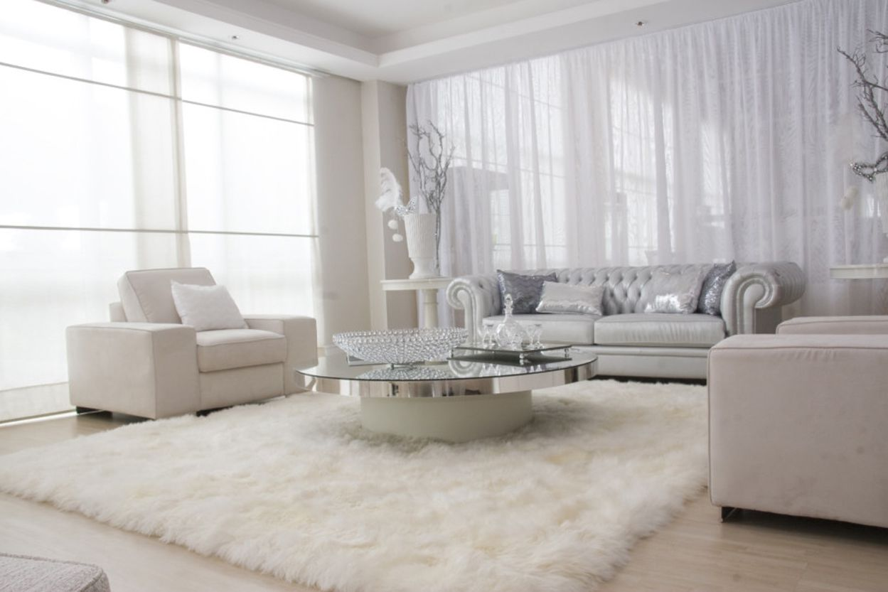 White Living Room Rug