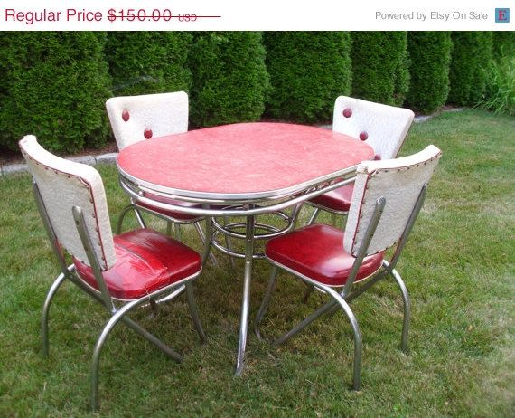 1950s Formica Kitchen Table And Chairs For Sale