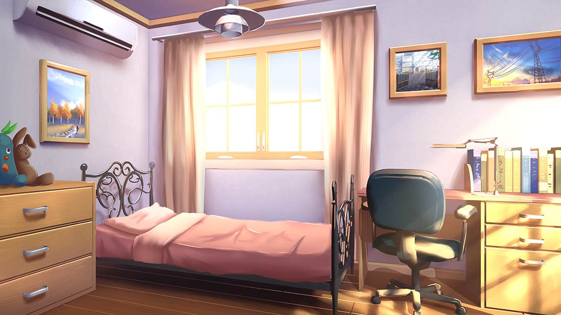 Cute Anime Bedroom Background